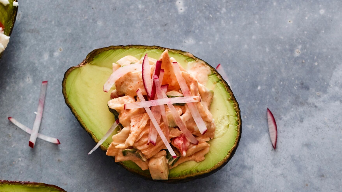 Seafood Salad Stuffed Avocado
