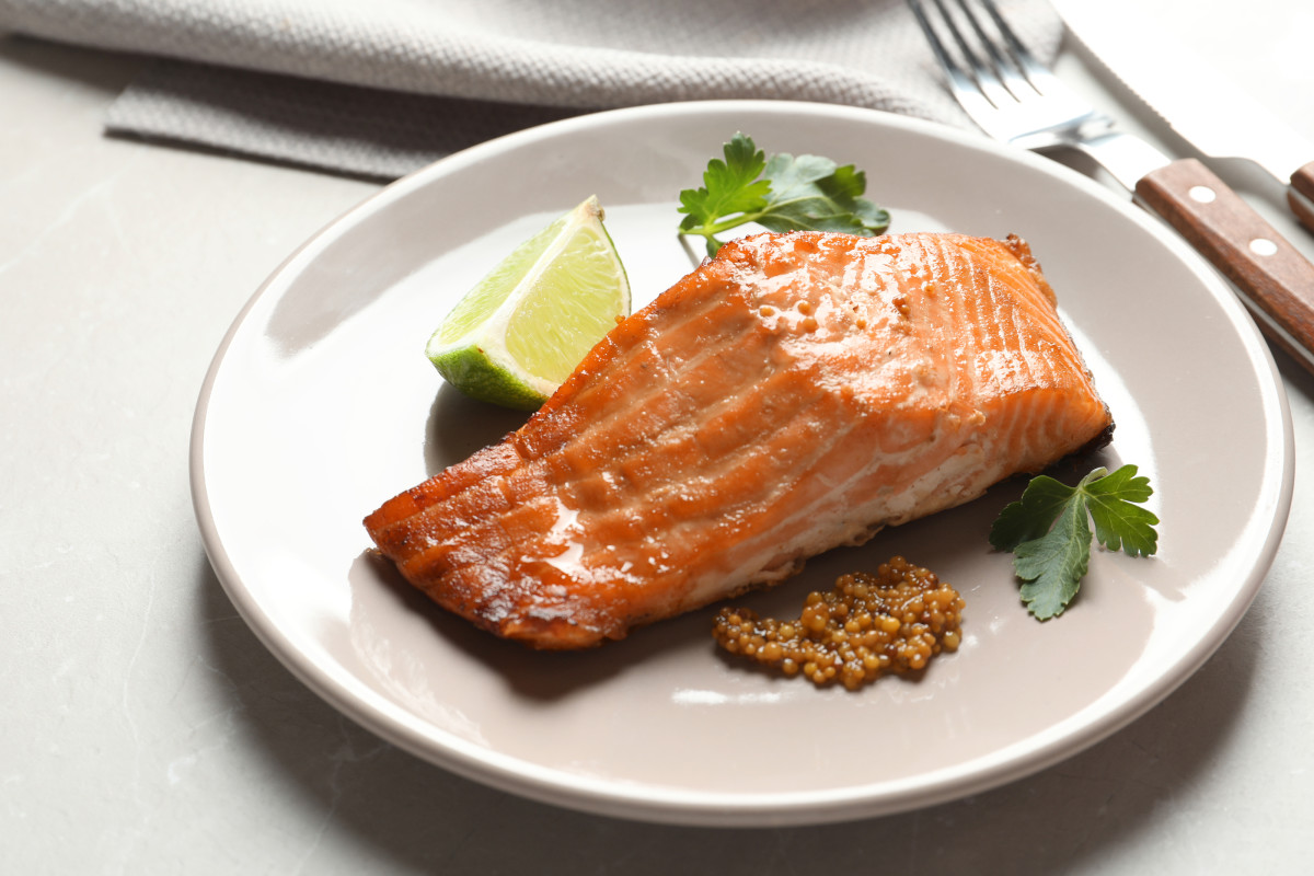 Mustard and Ginger Baked Salmon