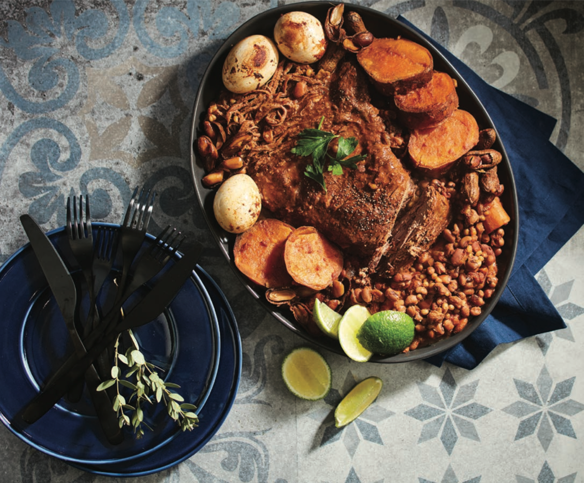 Southern style cholent with brisket