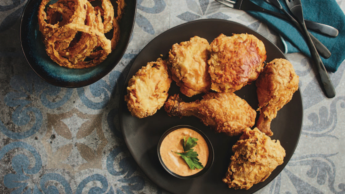 Southern Fried Chicken and Onions