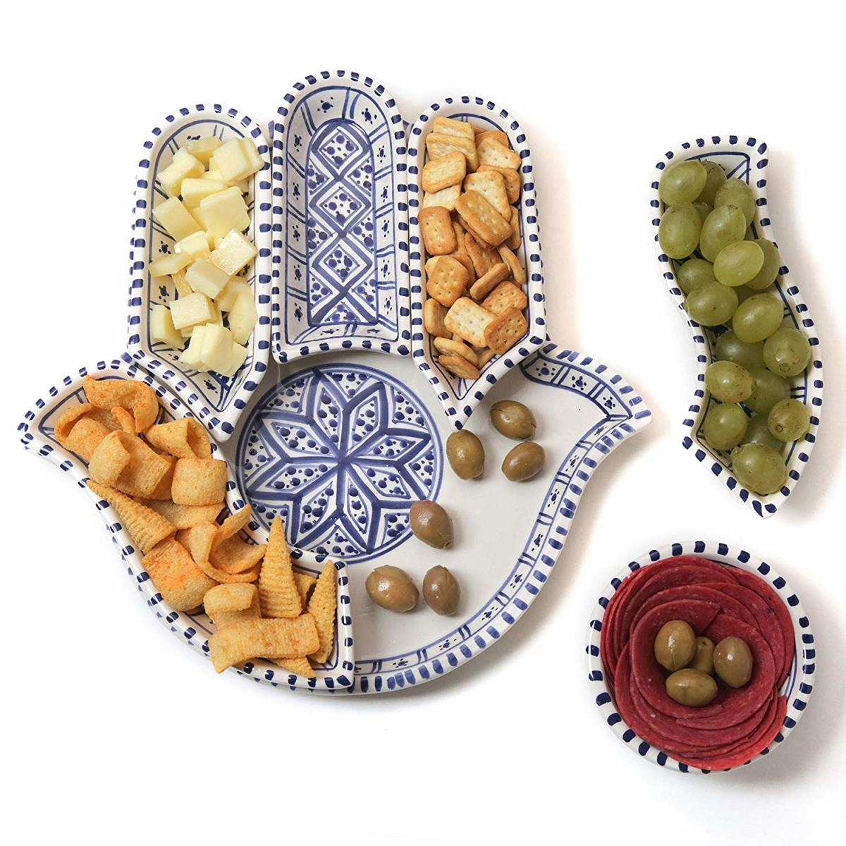 hamsa hostess gift serving dish