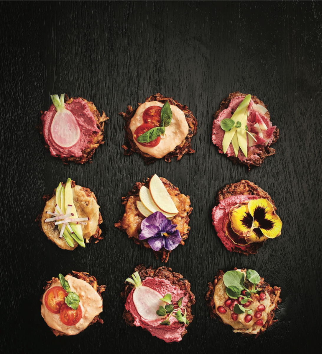Latkes with toppings