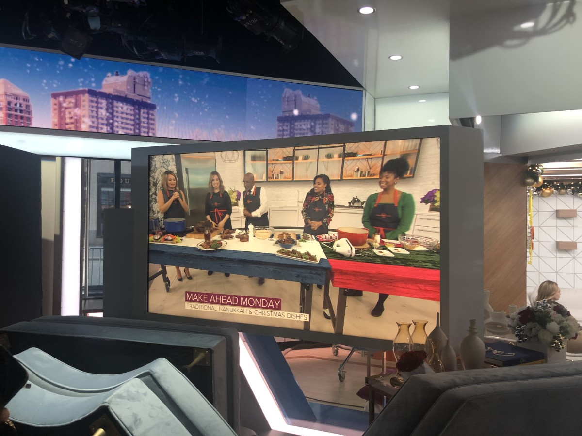 A view from the playback monitor on set of the TODAY Show