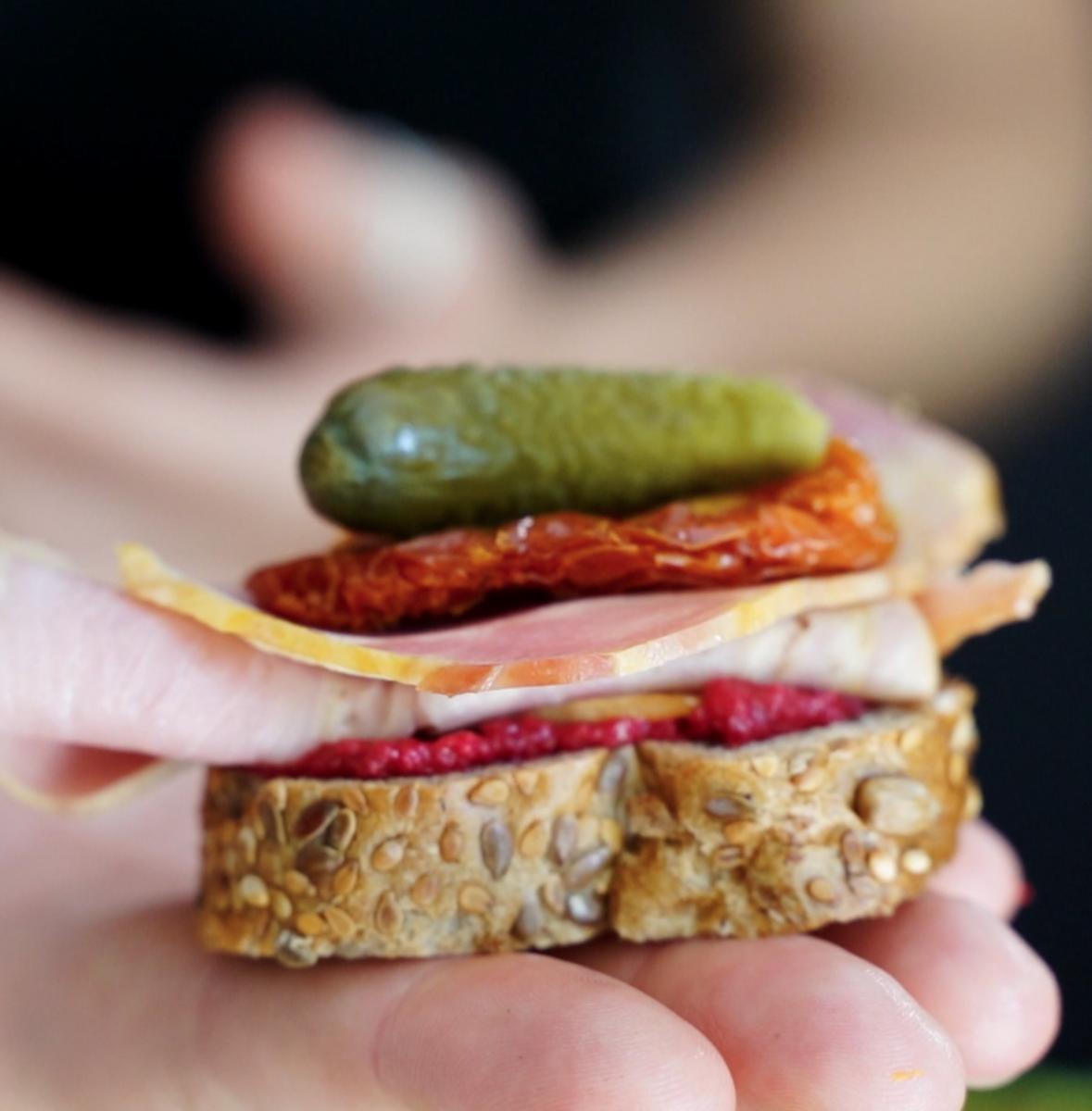 deli platter sandwich