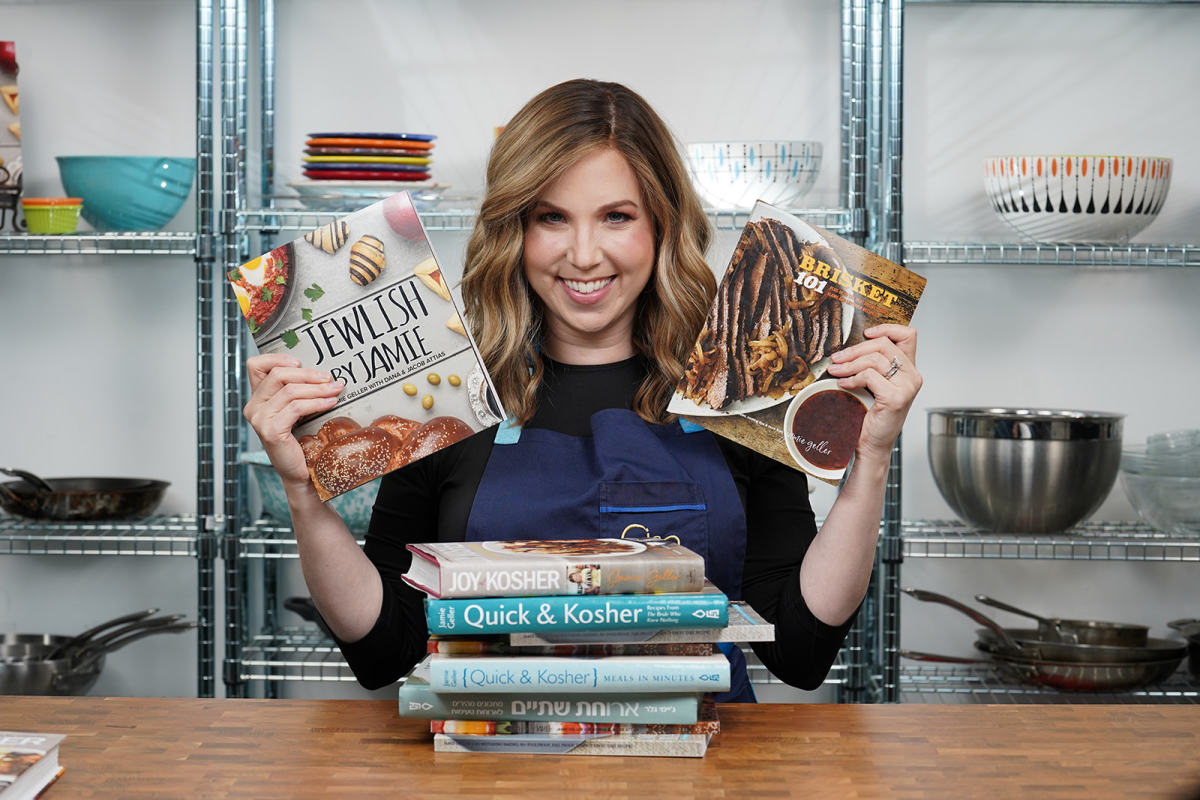 Jamie with Cookbooks