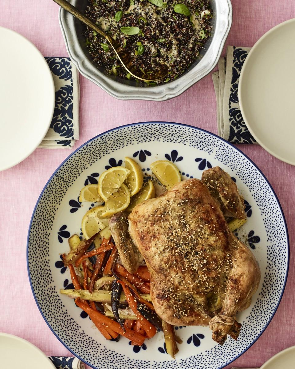 Zaatar Chicken and Carrots