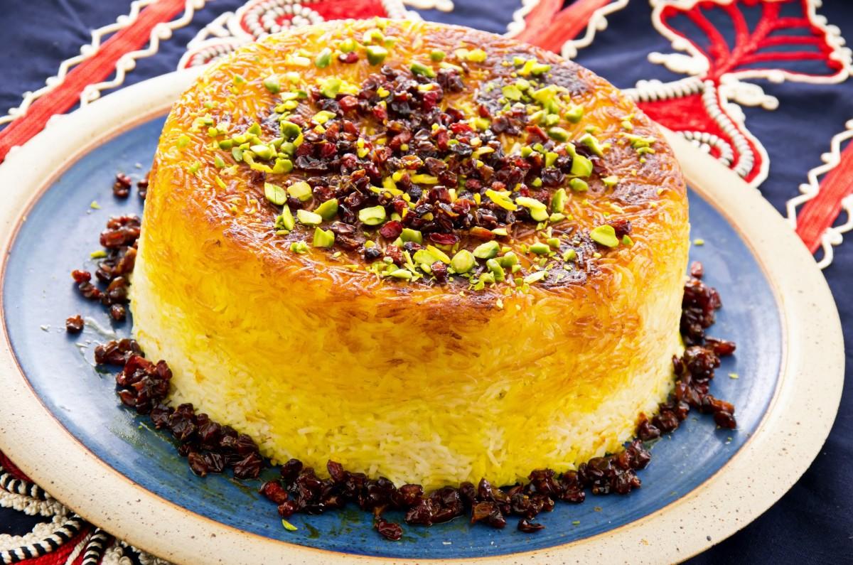 Vegetarian Tahchin Persian Rice