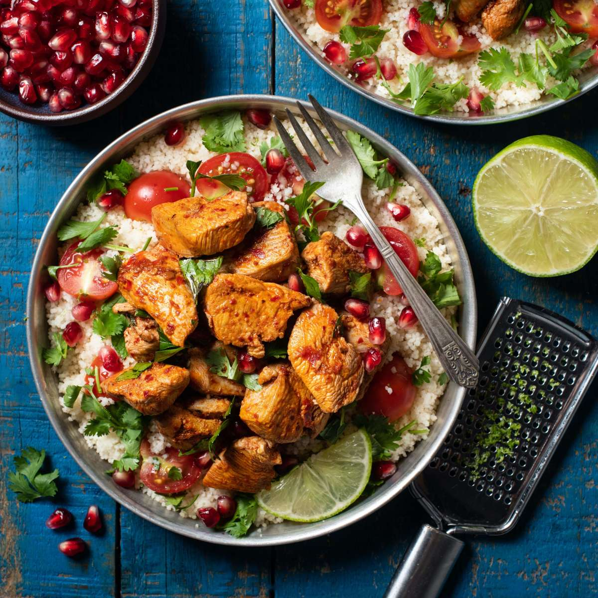 POMEGRANATE CHICKEN AND COUSCOUS SALAD1