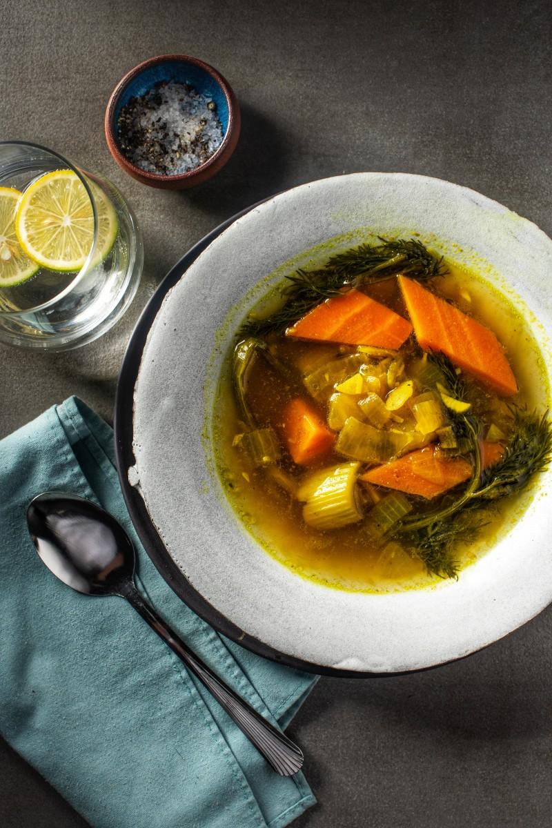 vegan chicken soup 1