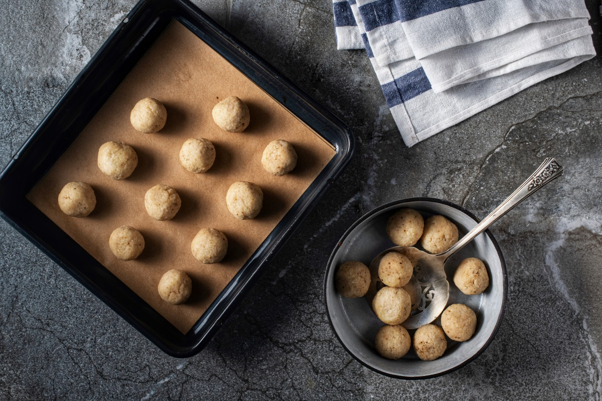 vegan matzo balls wide