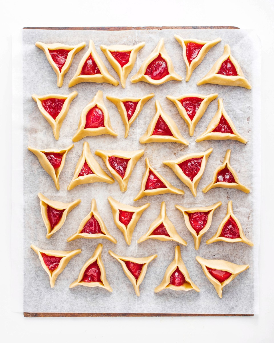 Ruby red strawberry jelly hamantaschen