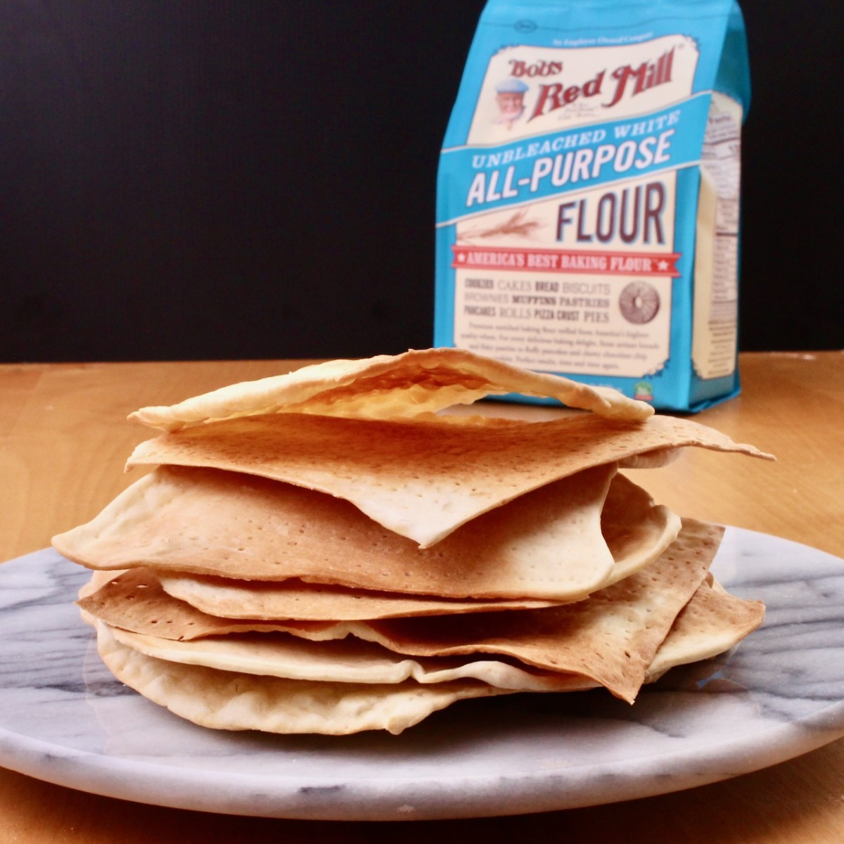 Homemade matzo with Bob's Red Mill's amazing quality flour