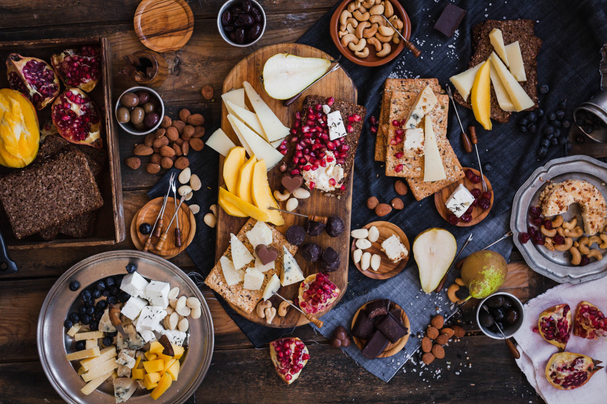 Tu Bishvat Dried Fruit and Cheese Platter