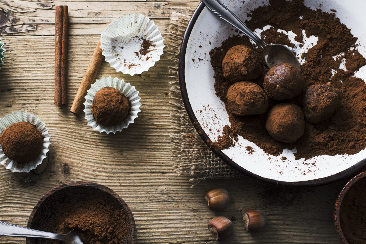 dairy free homemade chocolate truffles