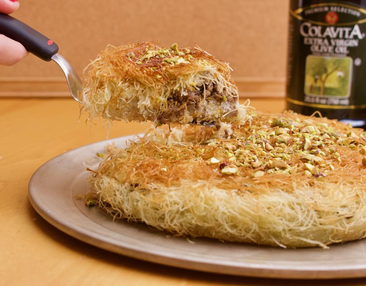 Meat kanafeh piece