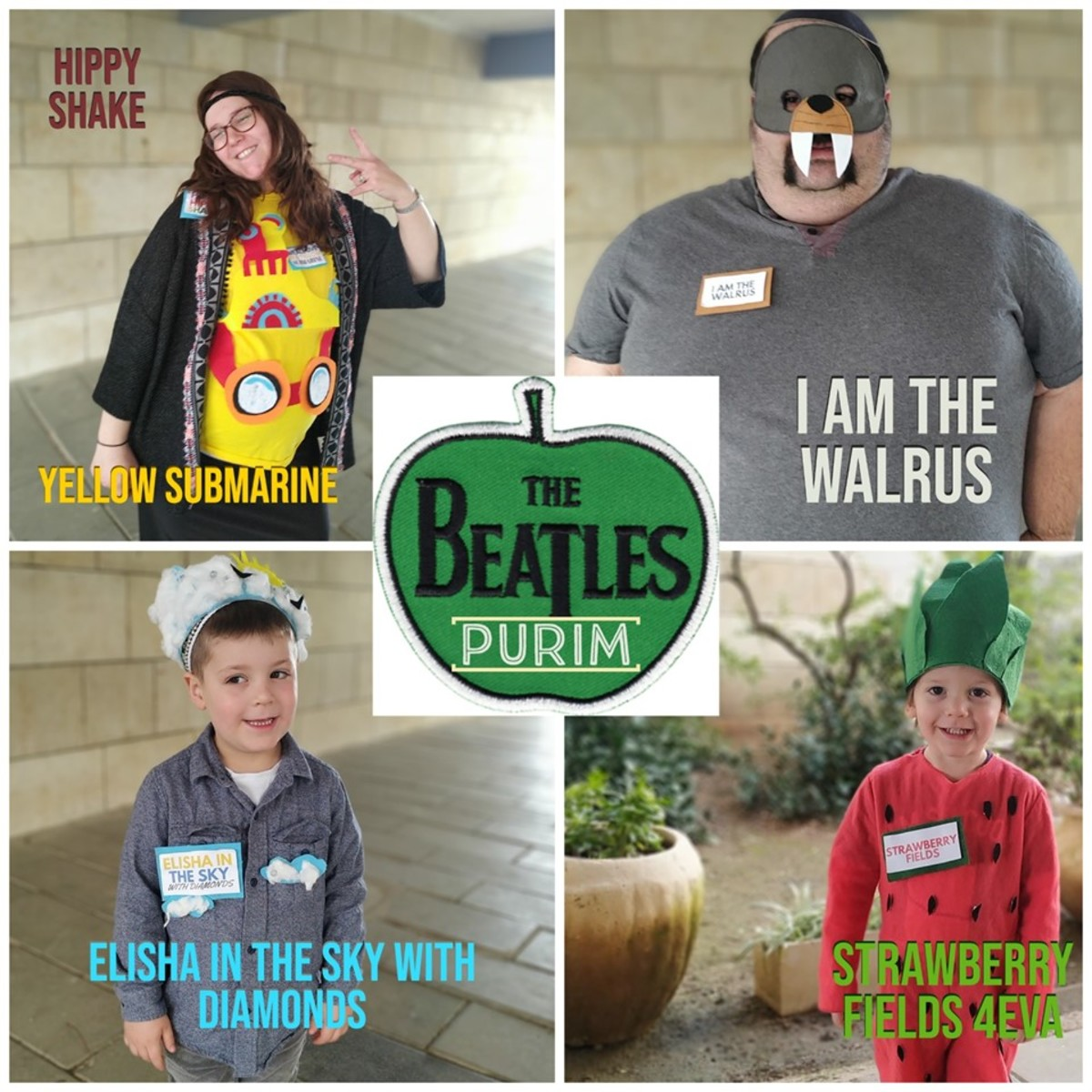 Beatles songs family costume