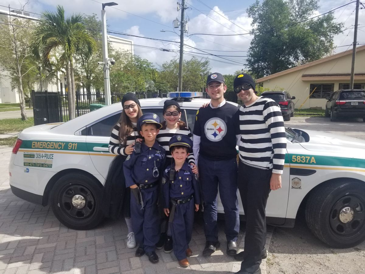 cops and robbers family costume