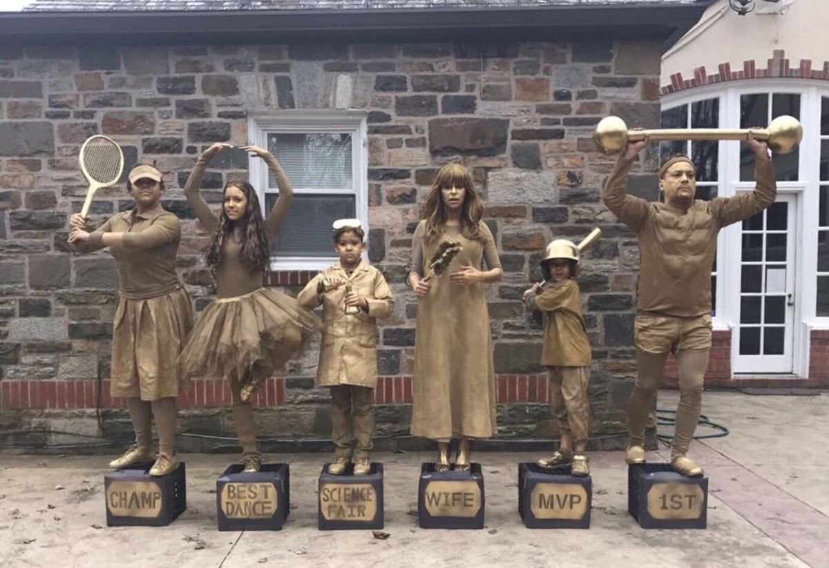 Trophy family costumes