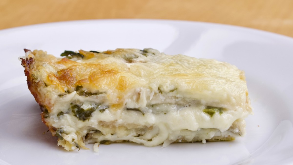 Spinach Cream Matzo Lasagna