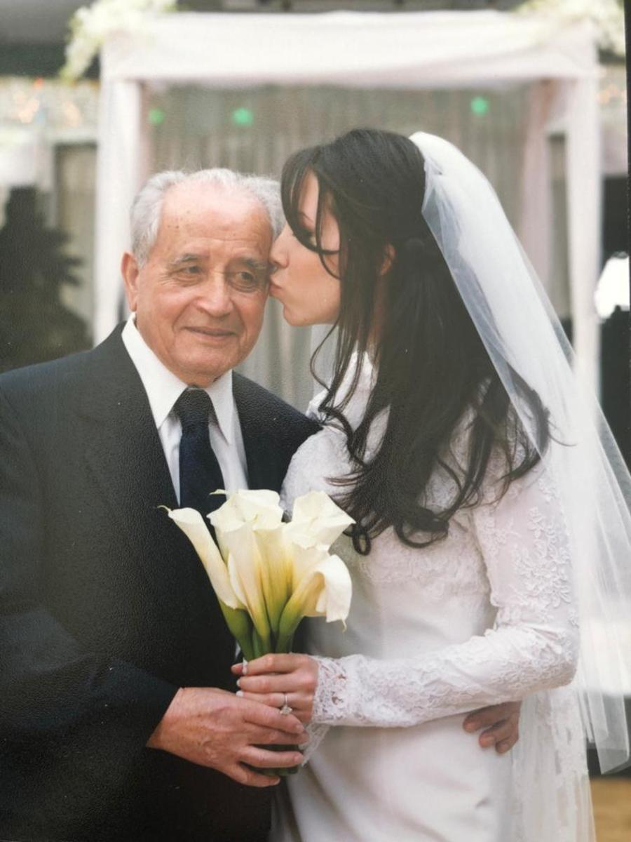 "Aputzi (""Daddy"" in Hungarian) at my wedding."