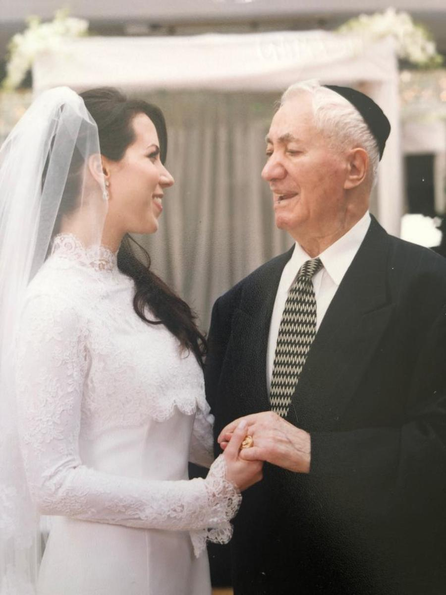Papala was so proud of my traditional Jewish wedding.