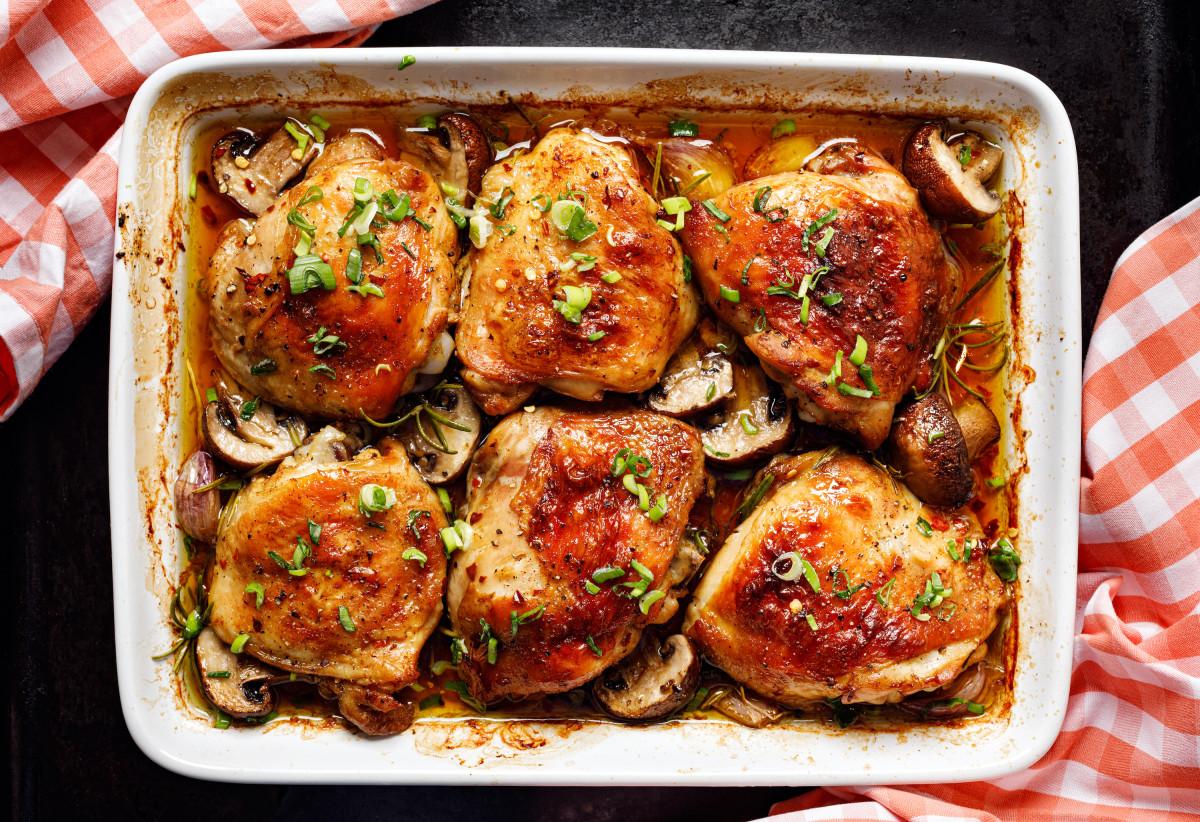 baharat and mushroom chicken