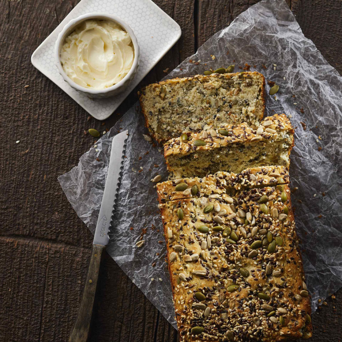 low carb seeded nut bread EatingWell.com