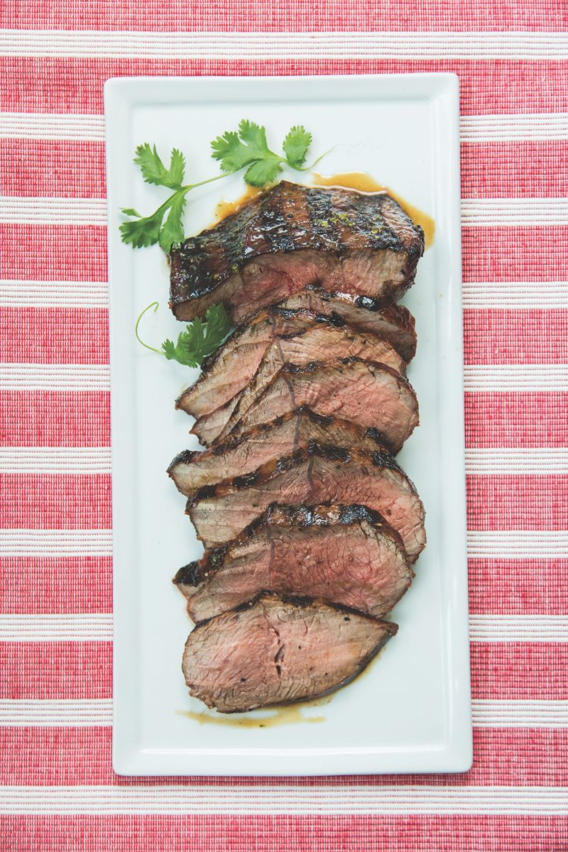 London Broil with Bourbon marinade