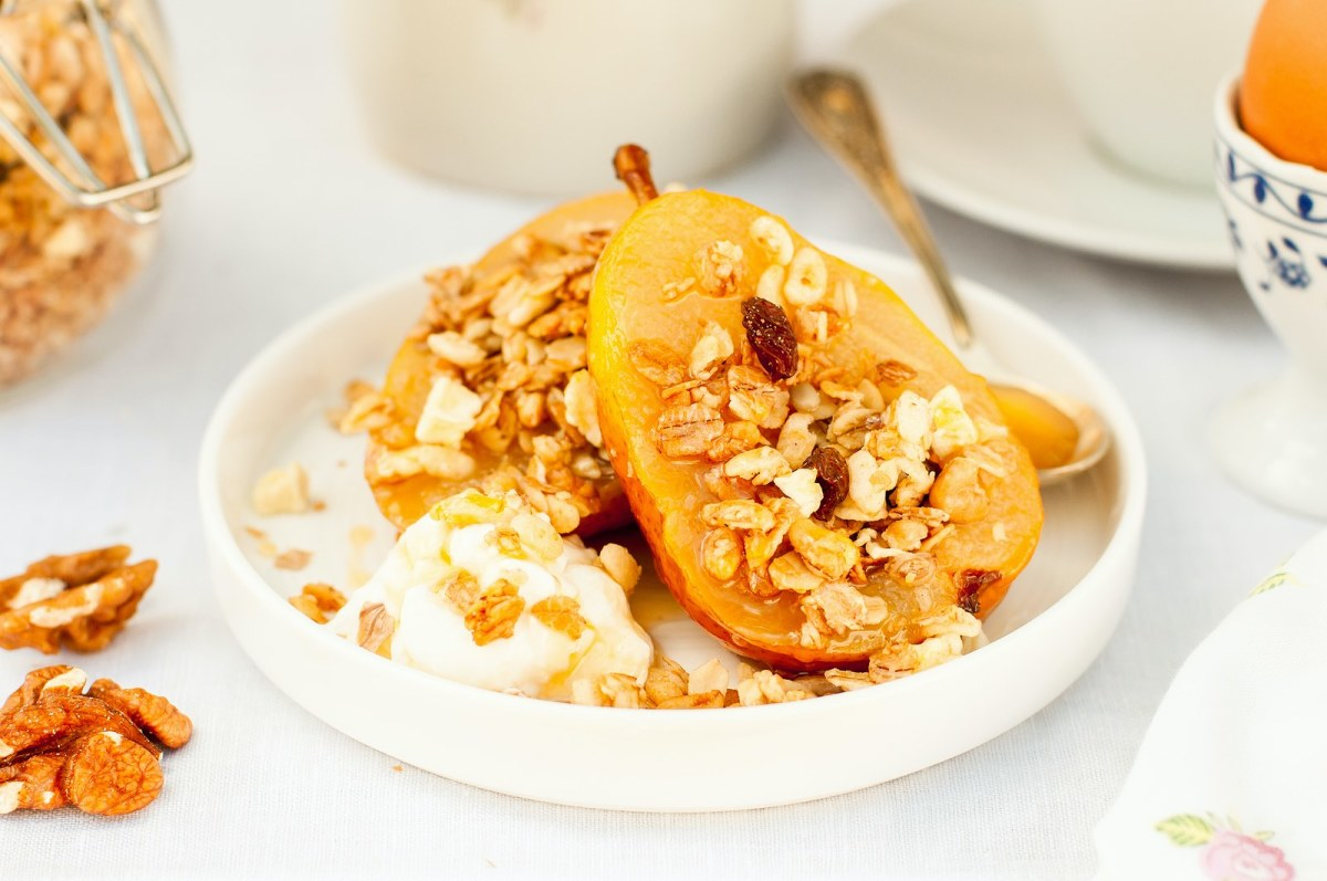healthy roasted pears