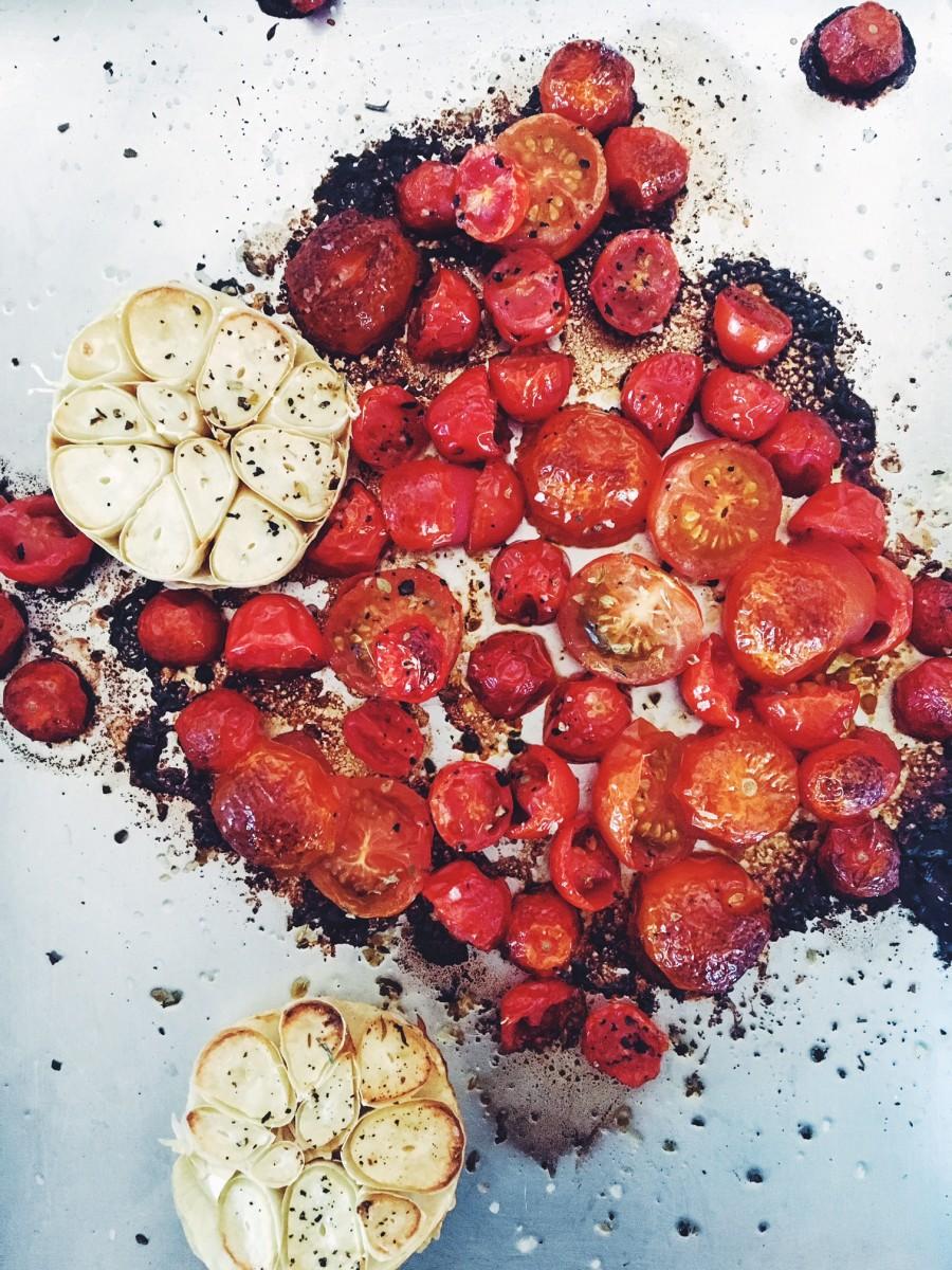 roast tomatoes for tomato toast